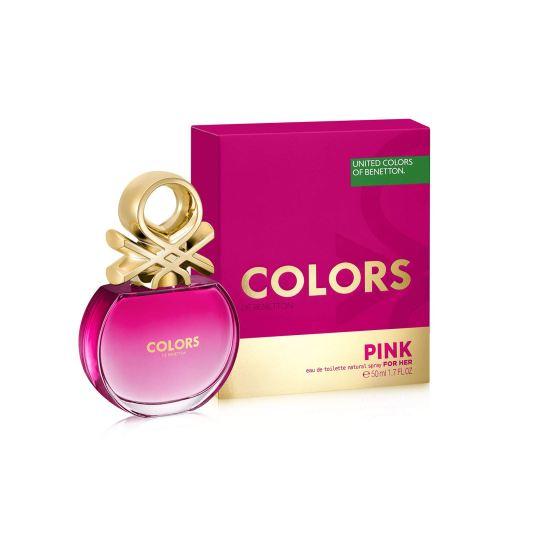 benetton colors pink eau de toilette 50ml