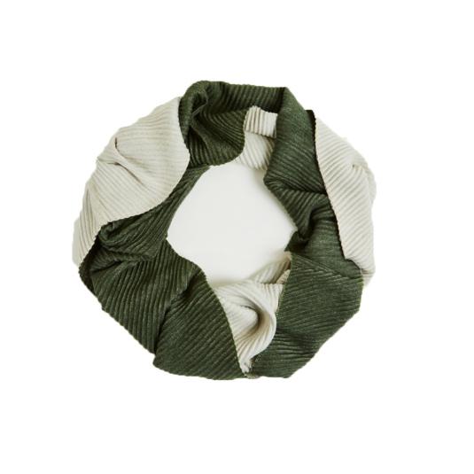 surkana cuello mujer reversible crudo/verde