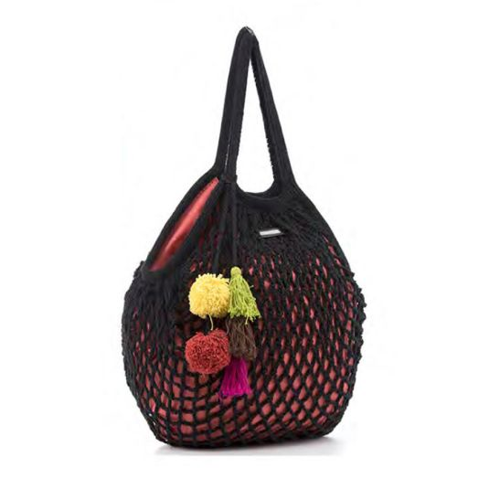 BOLSO BACKPACK CROCHET GRANDE