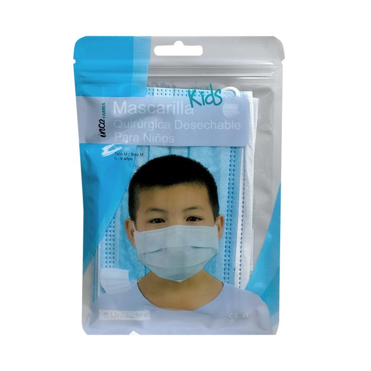 mascarilla quirurgica infantil tipo iir 5 unidades (0,45/UNIDAD)
