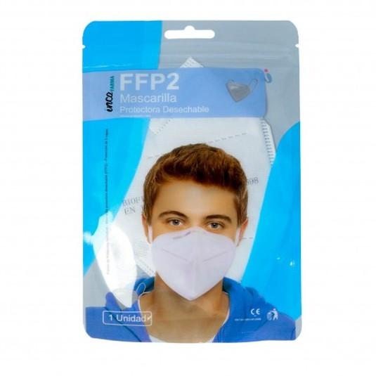 mascarilla ffp2 protectora desechable adulto blister 1 unidad