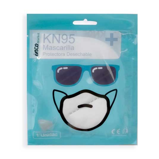 mascarilla kn95 protectora desechable 1 unidad en blister