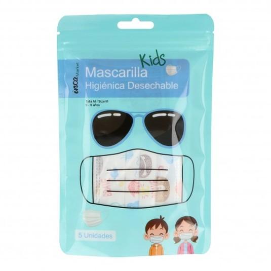 mascarilla higienica infantil blister 5ud (0,70 unidad)