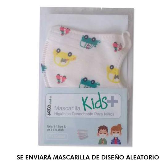 mascarilla higienica desechable infantil decorada blister 1 unidad