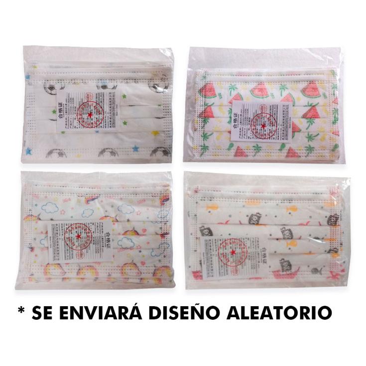mascarilla higienica infantil bolsa 5ud (0,99 unidad)