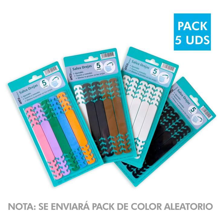 salvaorejas para mascarillaa protectoras colores surtidos 5 unidades