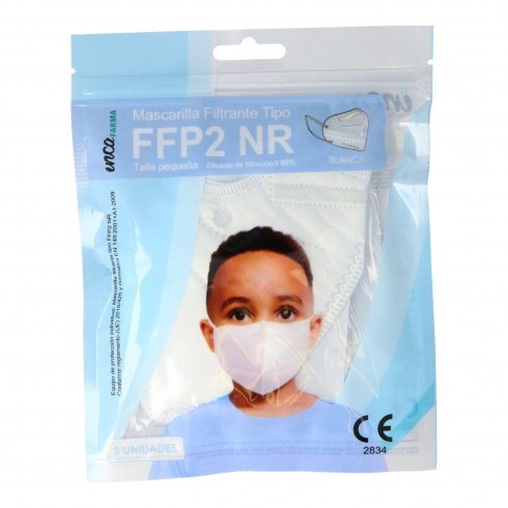 mascarillas ffp2 nr desechables niños  3 unidades