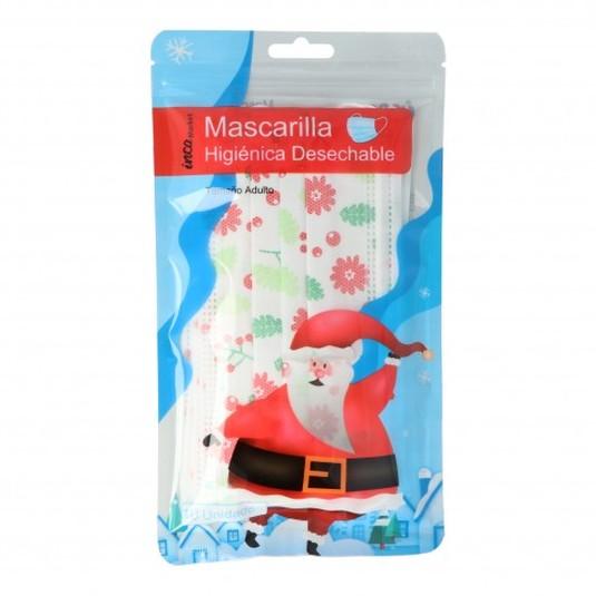 mascarilla higienica motivos navideños adulto 10 unidades