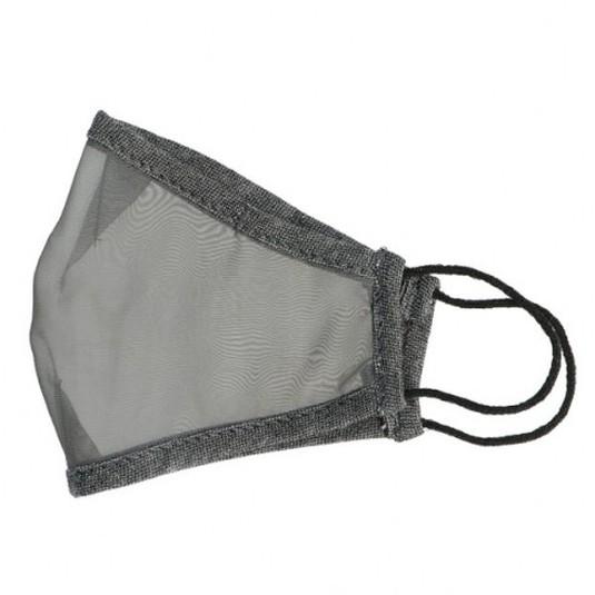 mascarilla higienica reutilizable transparente viroblock gris
