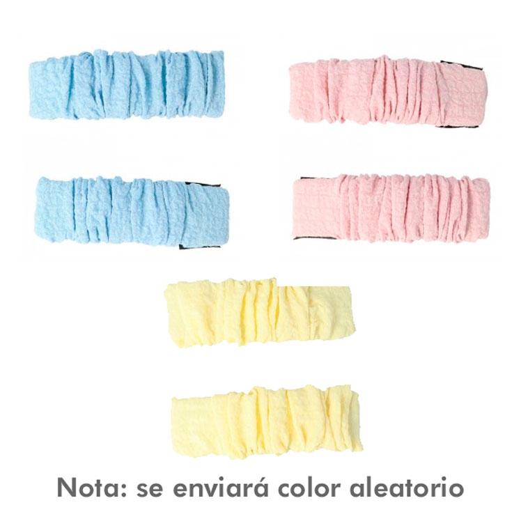 clips para el pelo forrados en tela color pastel 2 unidades