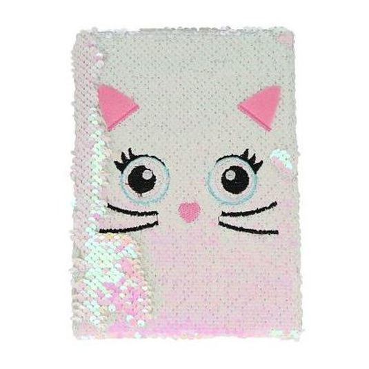 cuaderno alcolchado brillante gatito