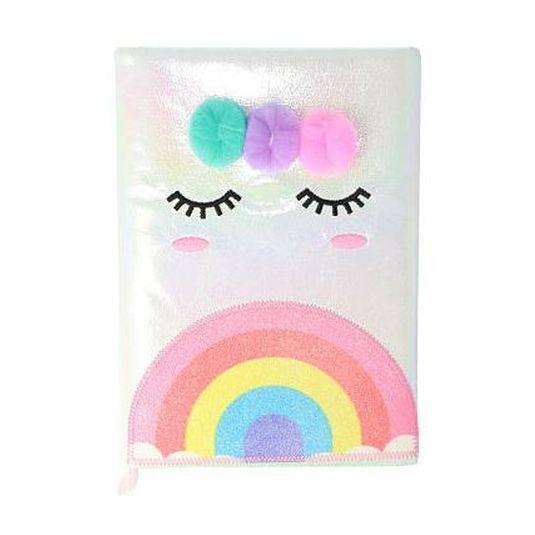 cuaderno alcolchado unicorn arco iris a5