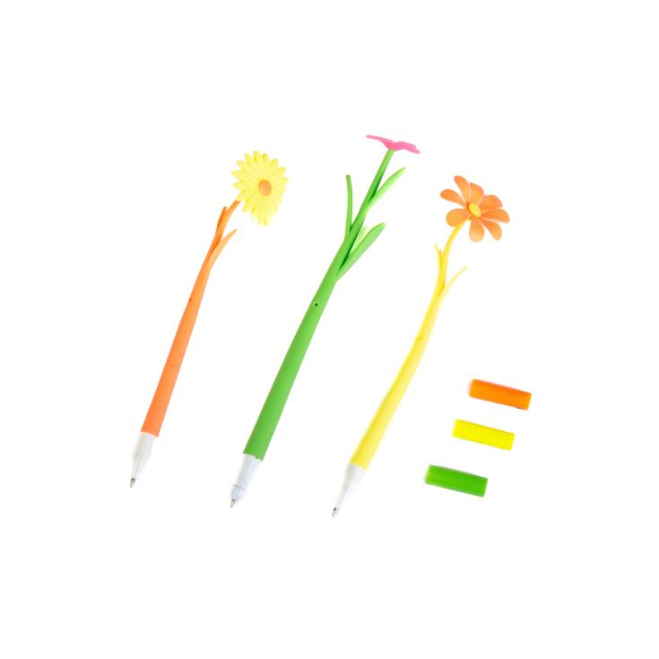 boligrado flor de goma colores surtidos