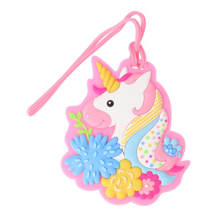 etiqueta para equipaje infantil unicornios surtidos