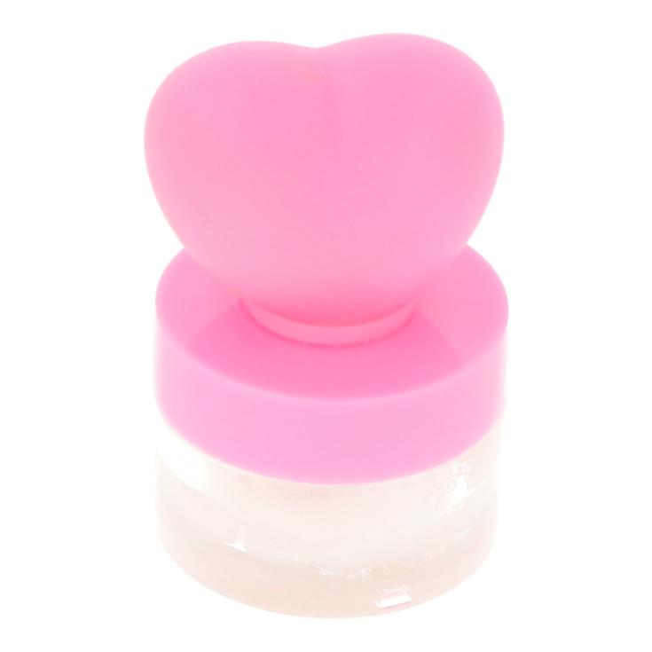 brillo de labios con luz led ballena o corazon 3d