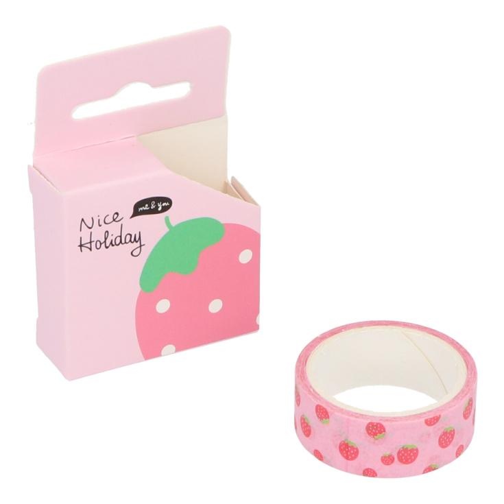 cinta adhesiva estampada tipo washi diseños surtidos