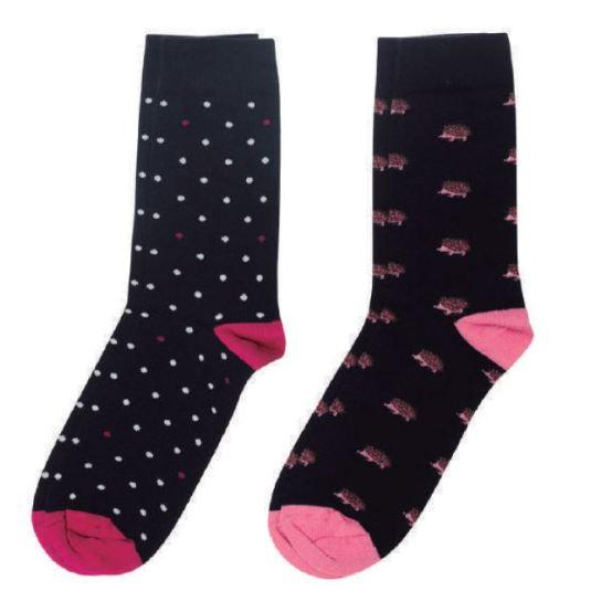 soxland calcetín chica erizos rosa