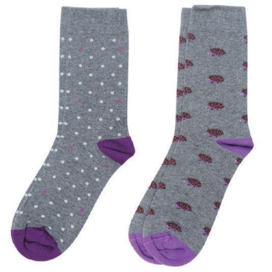 soxland calcetín chica erizos lila