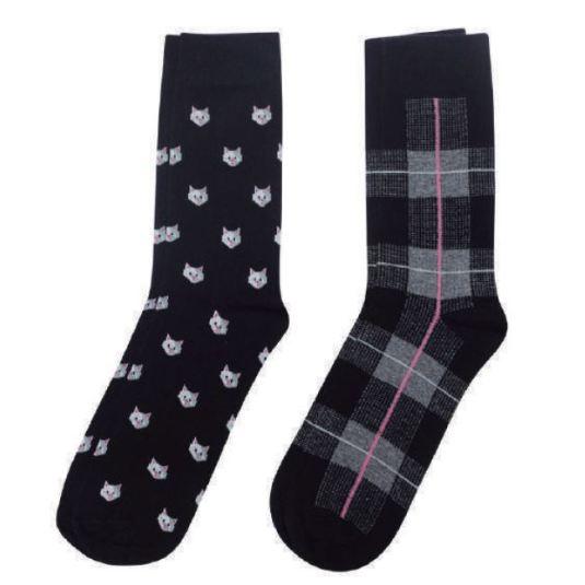soxland calcetin chica gatos negro