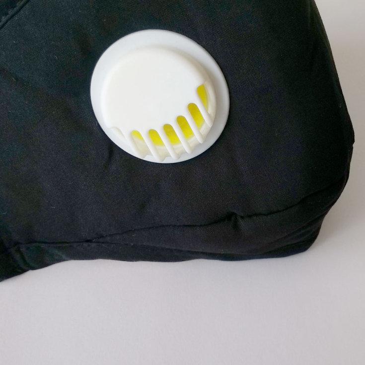 mascarilla ultramask protectora lavable negra con valvula y con filtro extraible de carbon activo