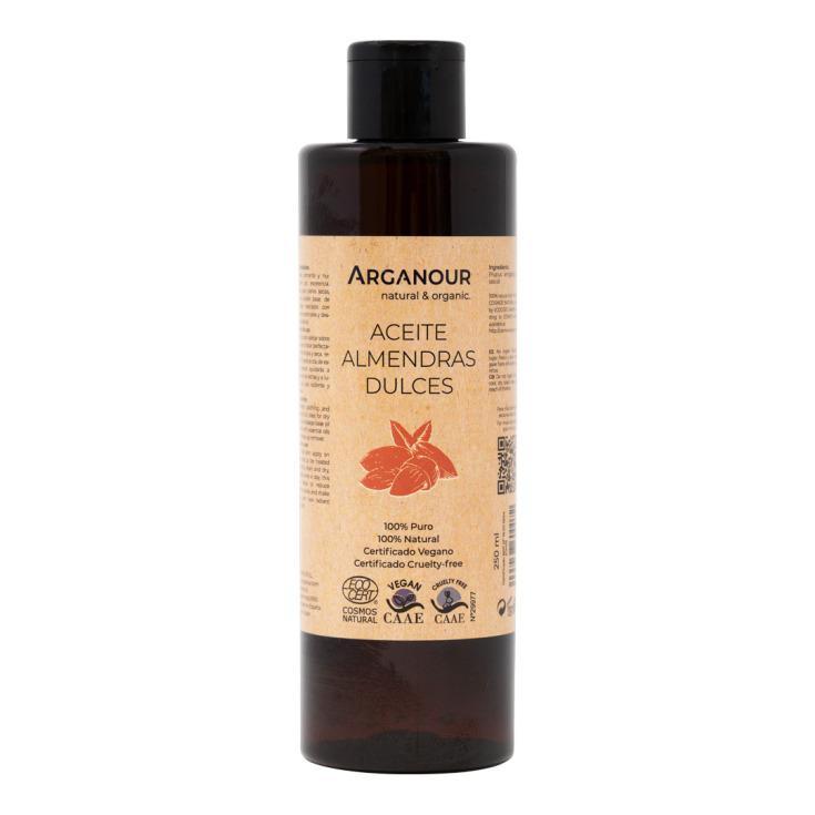 arganour aceite de aceite almendras dulces bio 250ml