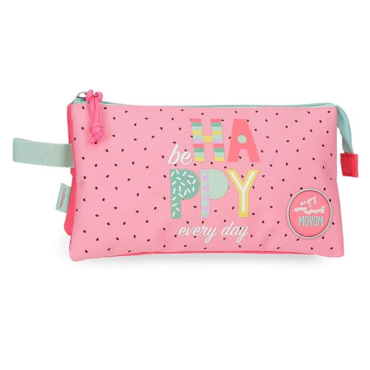 movom be happy every day estuche 3 compartimentos 22x12x5cm