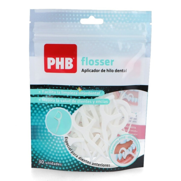 phb flosser ptfe aplicador hilo dental desechable 30unidades