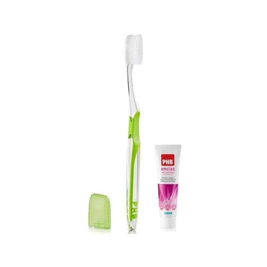 phb cepillo dental plus encias + pasta dentifrica encias 15ml regalo
