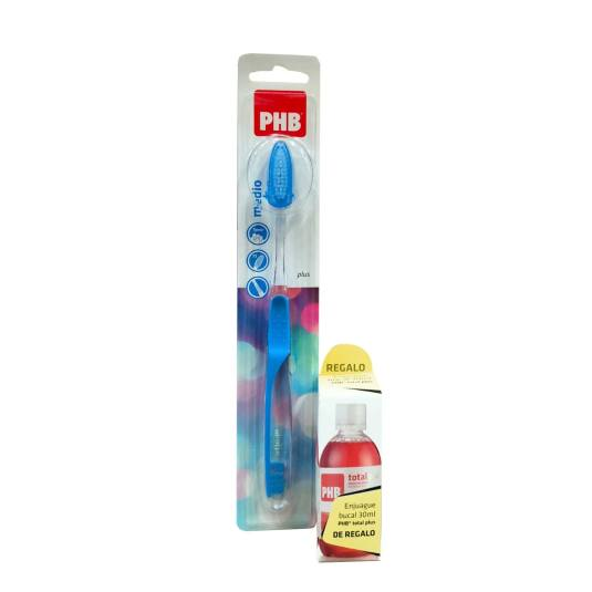 phb cepillo plus medio + colutorio total plus 30ml regalo