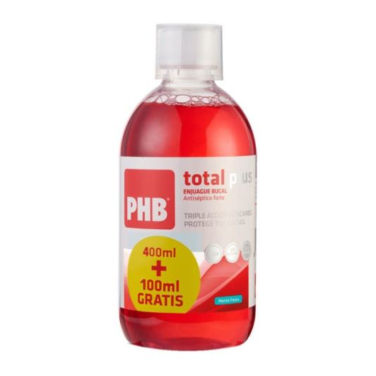 phb enjuague bucal total plus 400 + 100ml gratis