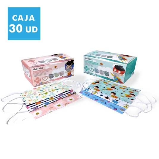 mascarillas higienicas infantiles caja 30 unidades
