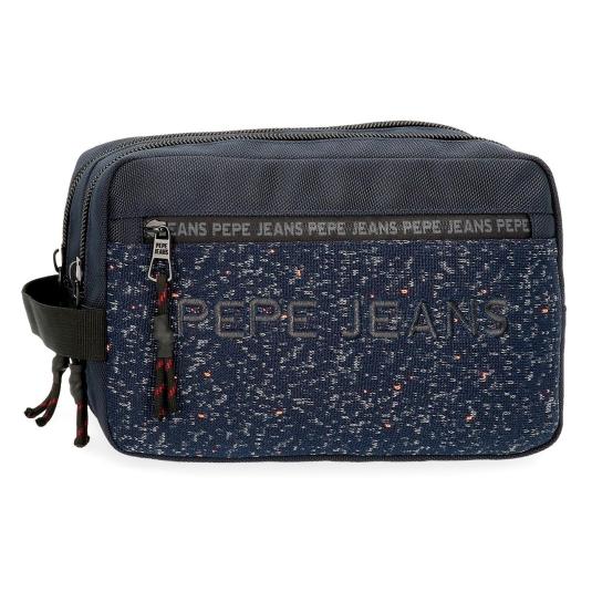pepe jeans neceser doble compartimento adaptable 16x26x12cm