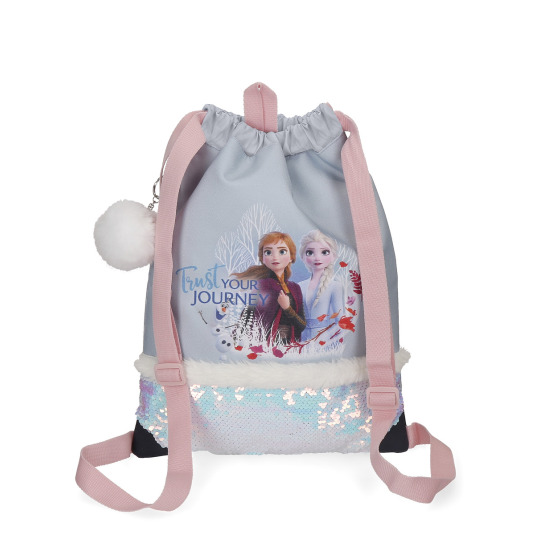 mochila saco frozen ii trust your journey