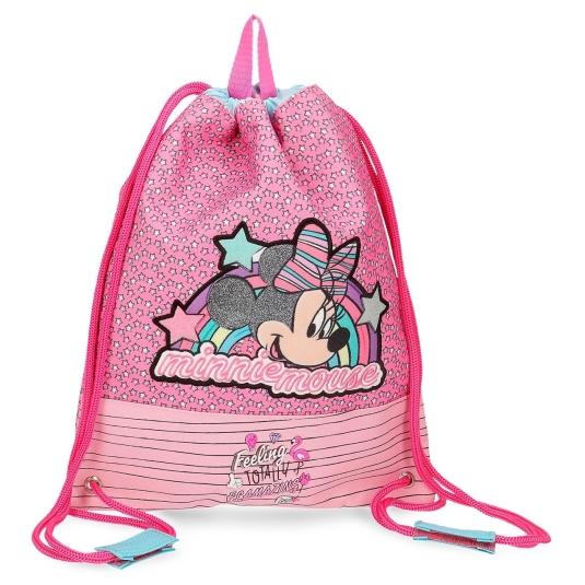 mochila saco infantil minnie pink vibes