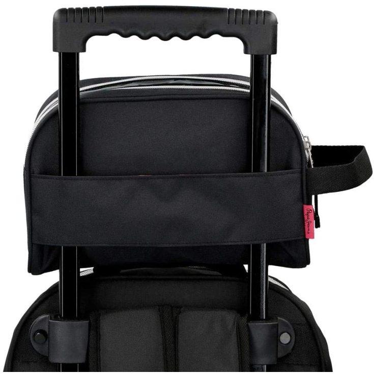 pepe jeans ada neceser doble compartimento adaptable negro 26x16x12cms