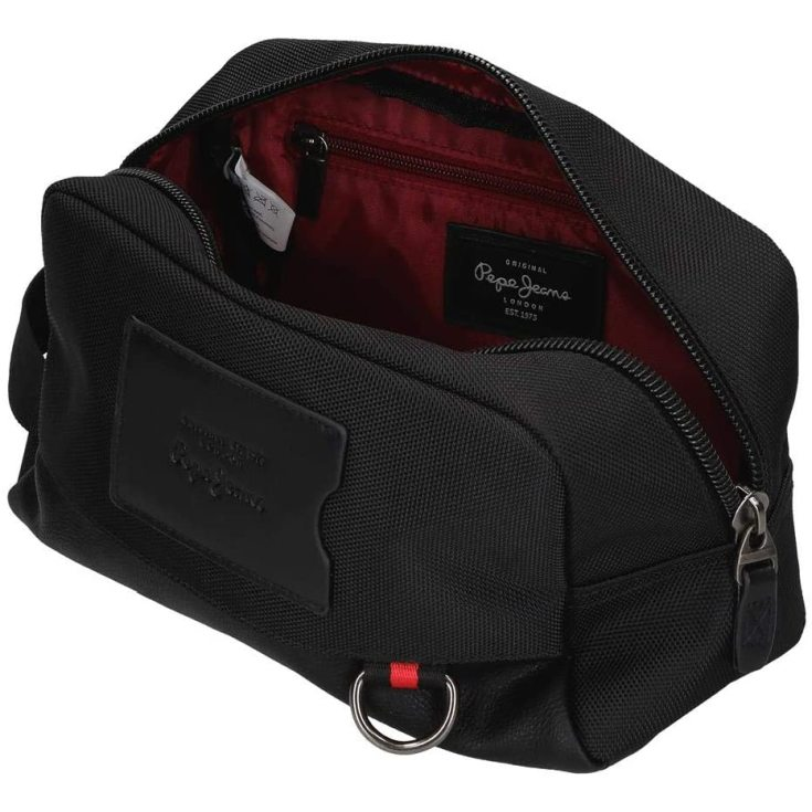 pepe jeans counter neceser adaptable negro 25x15x12cm