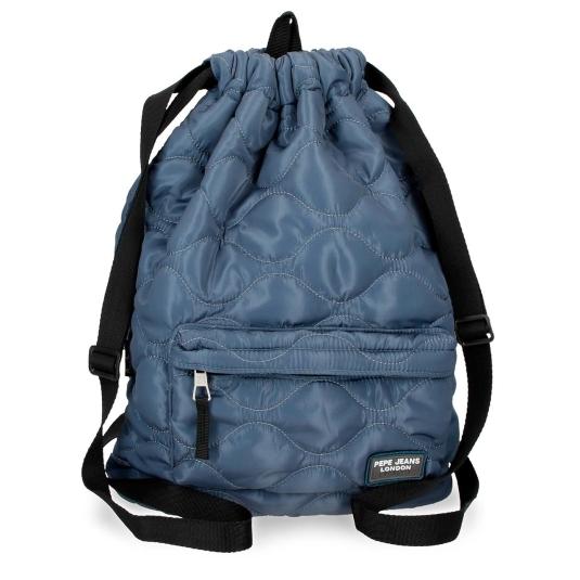 pepe jeans orson mochila saco acolchado azul 45x32x15cm