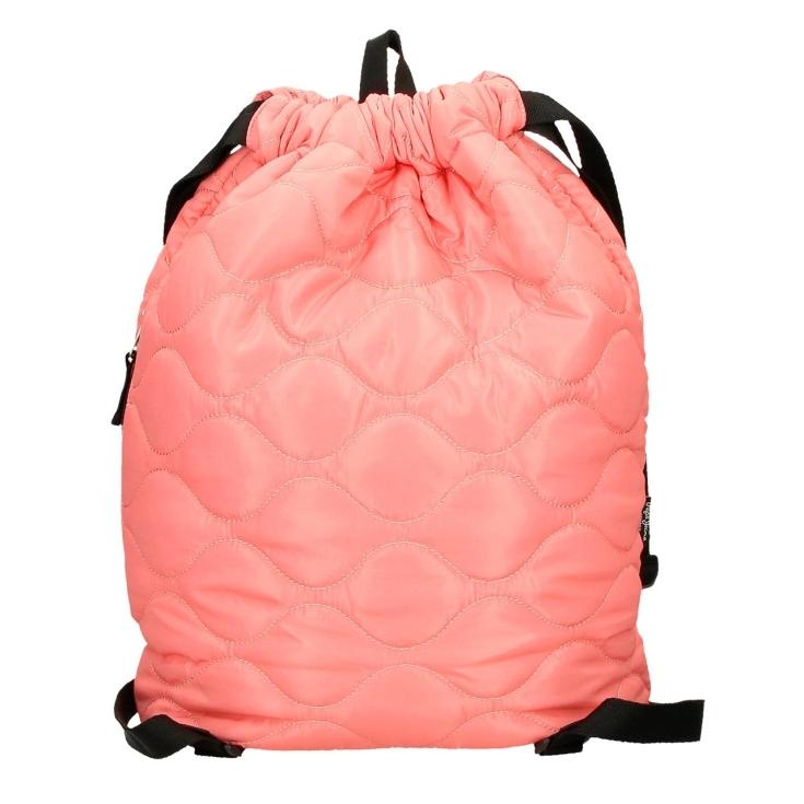 pepe jeans orson mochila saco acolchado color coral 45x32x15cm