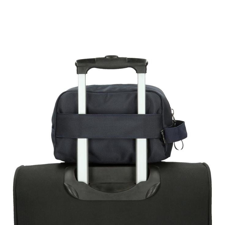 neceser pepe jeans adaptabe a maleta azul marino