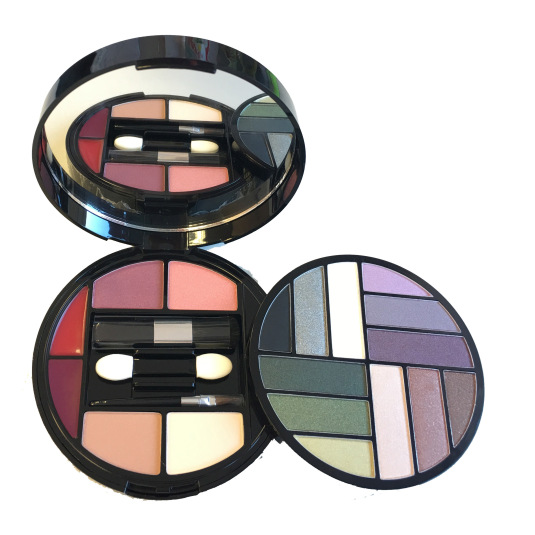 mya cosmetics kit de maquillaje en estuche redondo