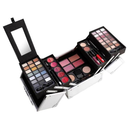 mya cosmetics maletín de maquillaje metálico cube