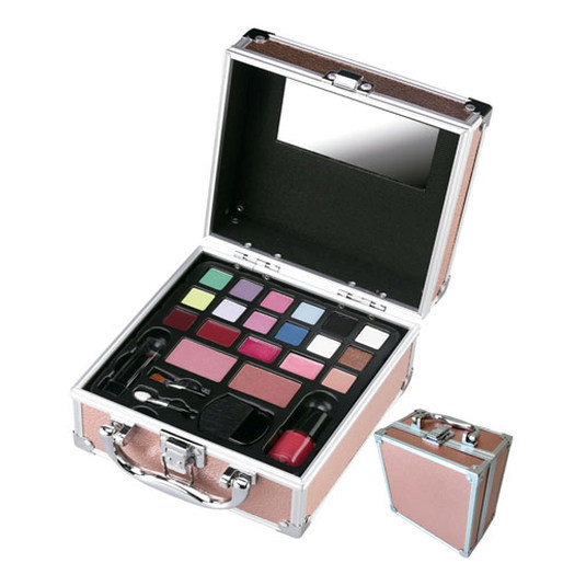 mya travel kit maletin maquillaje color salmon 15,5x15,5x9,5cm