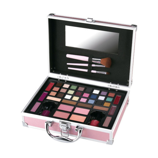mya travel kit pink bright matetin maquillaje 23,5x17x7cm