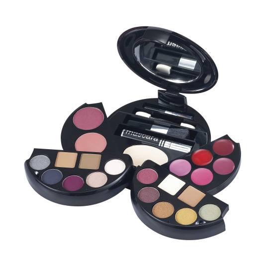 mya make up estuche de maquillaje redondo formato bolsillo 23 piezas