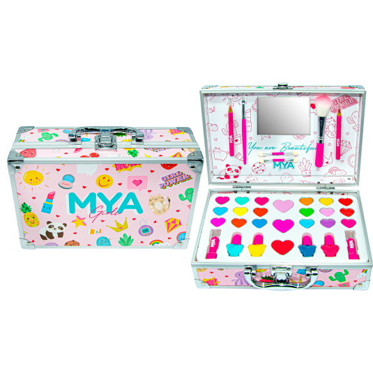 mya girls travel case maletin de maquillaje metalico