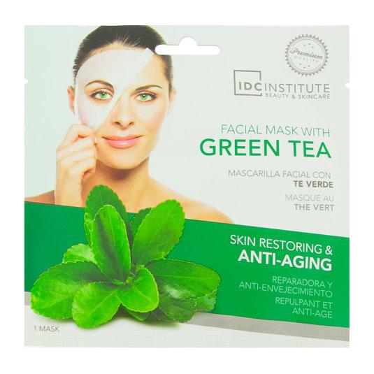 idc institute mascarilla facial green tea mascarilla te verde reparadora y antienvejecimiento