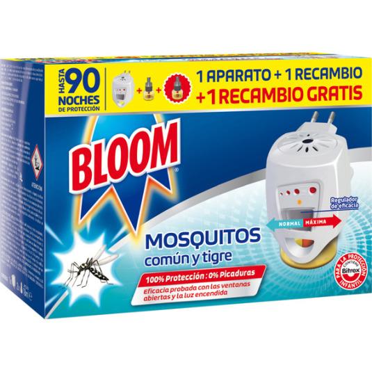bloom insecticida electrico antimosquitos + 2 recambios