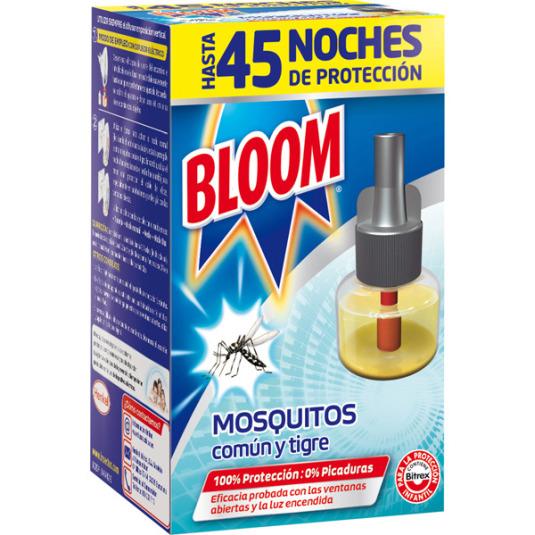 bloom insecticida electrico liquido antimosquitos comun y tigre 1 recambio