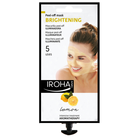 iroha mascarilla facial peel-off limon