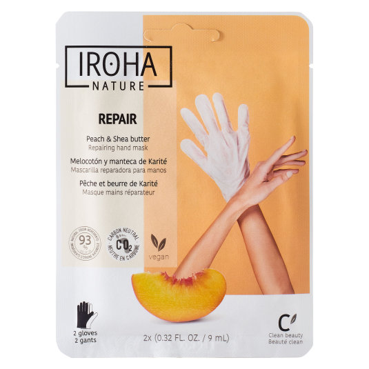 iroha guantes mascarill apara manos regenerantes melocotón